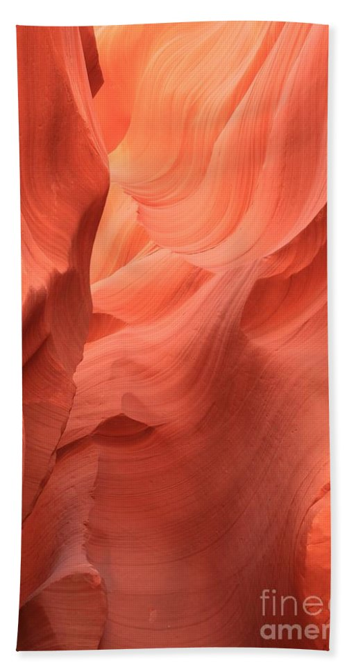 Arizona Slot Canyon Beach Towel featuring the photograph Face In The Fire by Adam Jewell