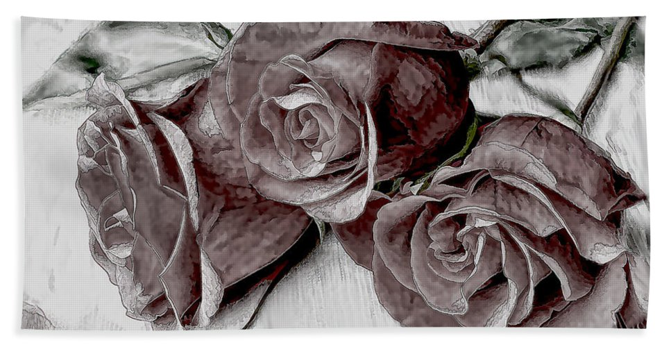 Roses Beach Towel featuring the photograph Faded Love by Bonnie Willis