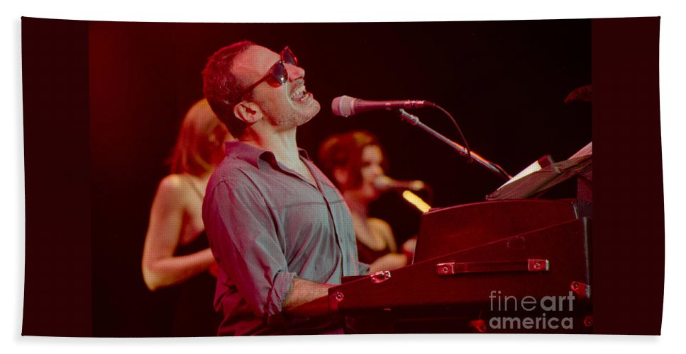 Steely Dan Beach Towel featuring the photograph Donald Fagan-gp07 by Timothy Bischoff