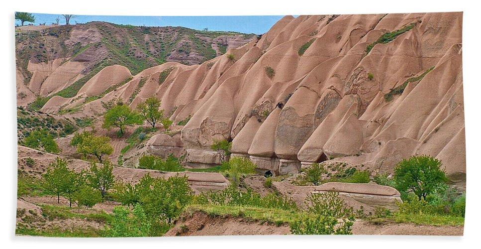 Fairy Chimneys In The Making Beach Towel featuring the photograph Fairy Chimneys In The Making In Cappadocia-turkey by Ruth Hager