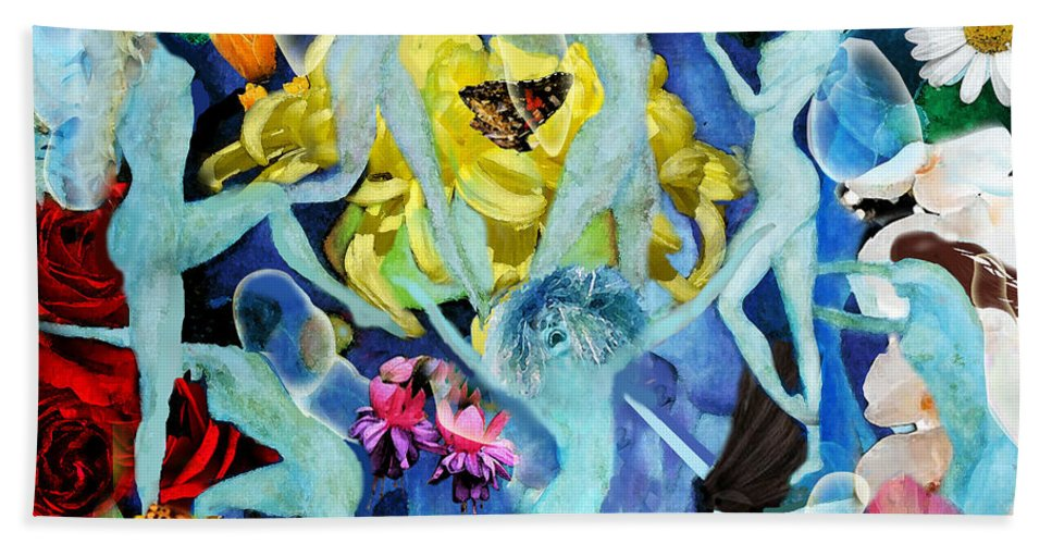 Fairies Beach Towel featuring the painting Fairy Dance by Larry Rice