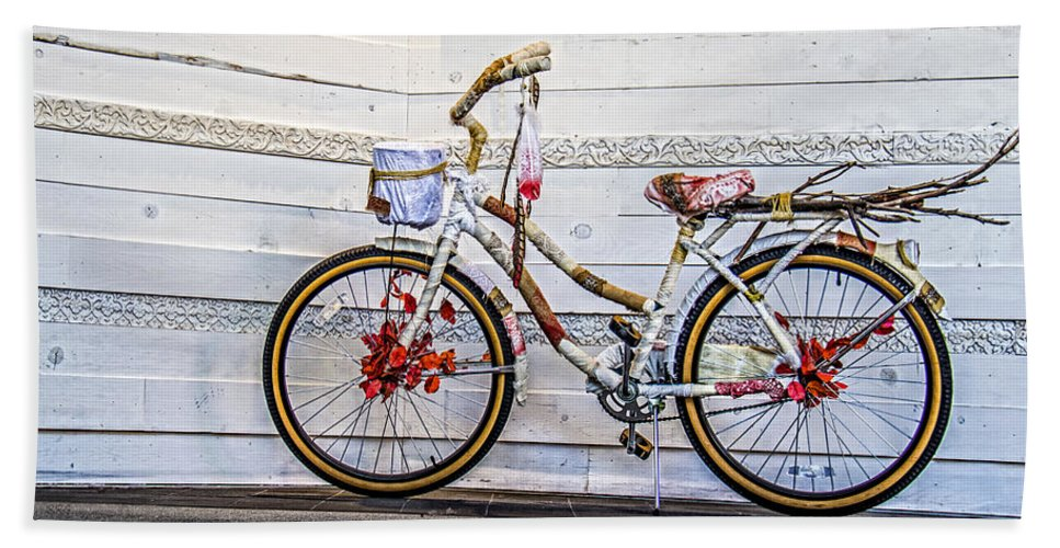 Bicycle Beach Towel featuring the photograph Fairy Tale Bike Flying Machine by Ben and Raisa Gertsberg