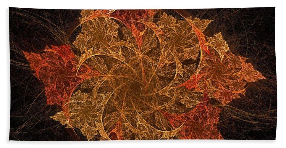 Fall Beach Towel featuring the digital art Fall Burst by Doug Morgan