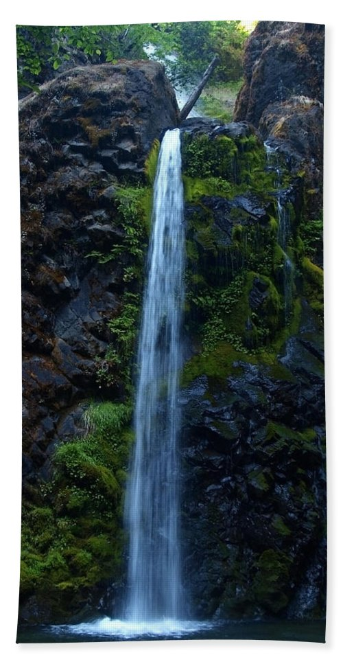 Water Beach Towel featuring the photograph Fall Creek Falls II by Teri Schuster