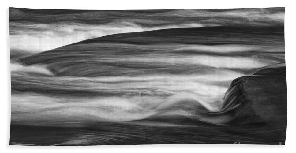 Michele Beach Towel featuring the photograph Fall Creek Flow by Michele Steffey