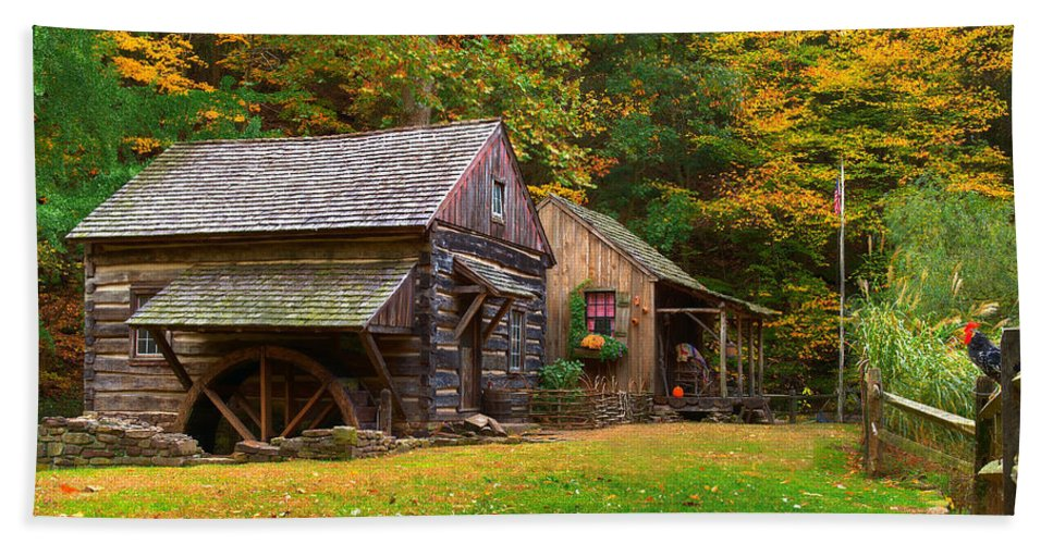 Farm Beach Towel featuring the photograph Fall Down On The Farm by William Jobes