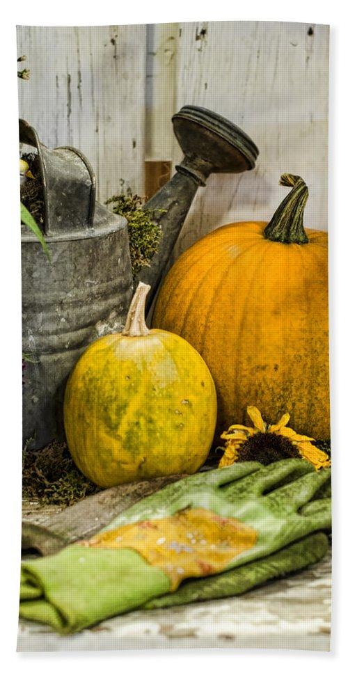 Pumpkin Beach Towel featuring the photograph Fall Harvest by Heather Applegate