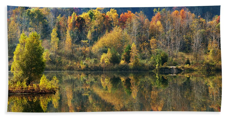 Fall Beach Towel featuring the photograph Fall Kaleidoscope by Christina Rollo