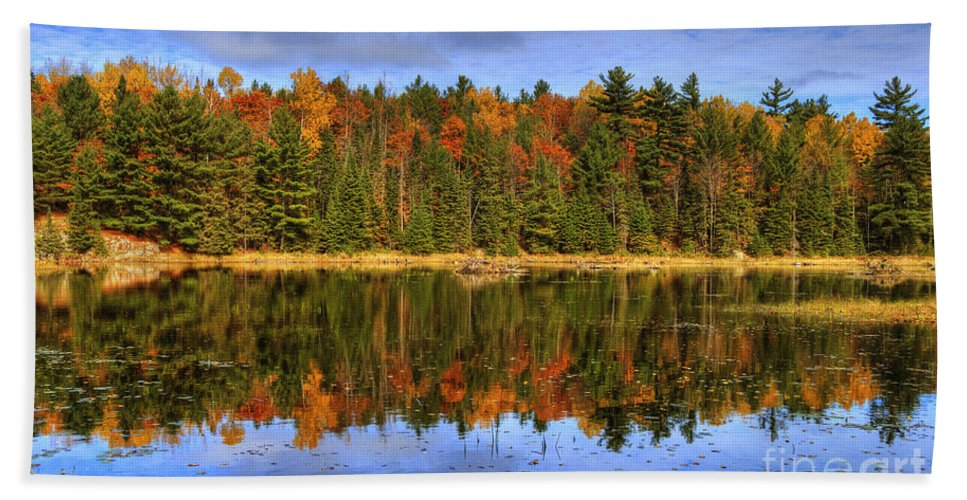 Festblues Beach Towel featuring the photograph Fall.. by Nina Stavlund