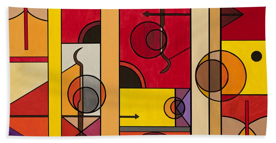 Picasso Beach Towel featuring the painting Art Of War by Christopher Page