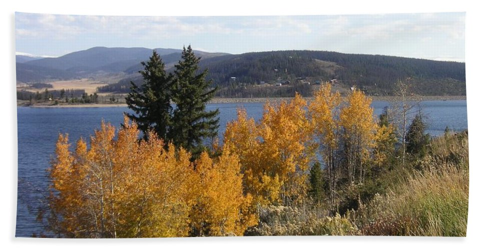 Landscape Beach Sheet featuring the photograph Fall On The Lake by Crystal Miller