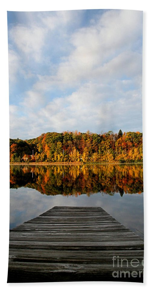 Lake Beach Towel featuring the photograph Fall On The Lake by DJ Florek