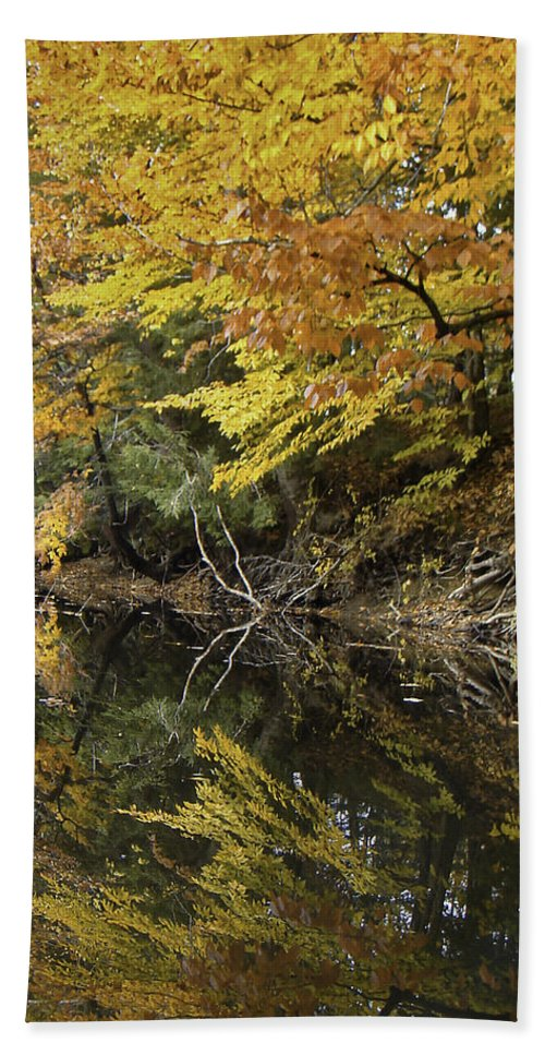 River Beach Towel featuring the photograph Fall Reflections by James Ekstrom