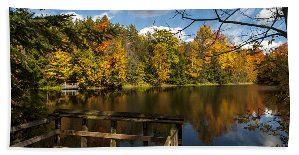 Fall Beach Towel featuring the photograph Fall Scene by Richard Kitchen