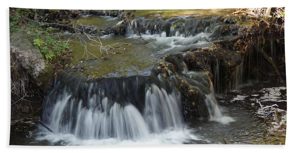 Waterfalls Beach Towel featuring the photograph Falls Along Big Stone Lake by Lori Tordsen
