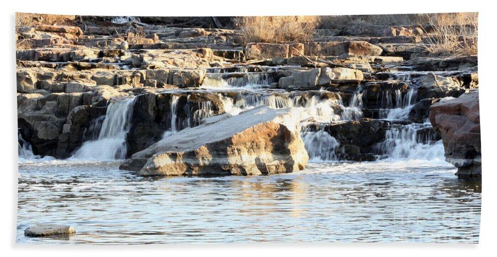 Wildlife Beach Towel featuring the photograph Falls Park Waterfalls by Lori Tordsen