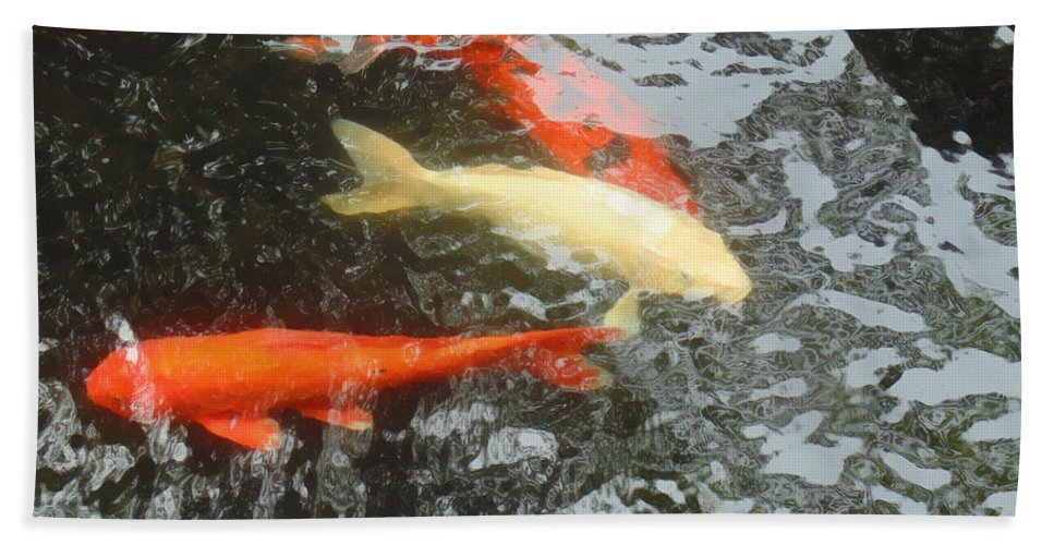 Koi Beach Towel featuring the photograph Family Members 4 by Marcello Cicchini
