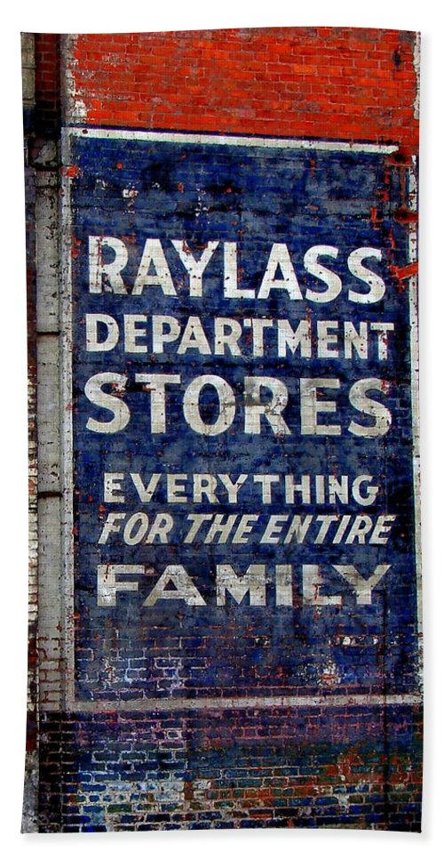 Fine Art Beach Towel featuring the photograph Family Store by Rodney Lee Williams