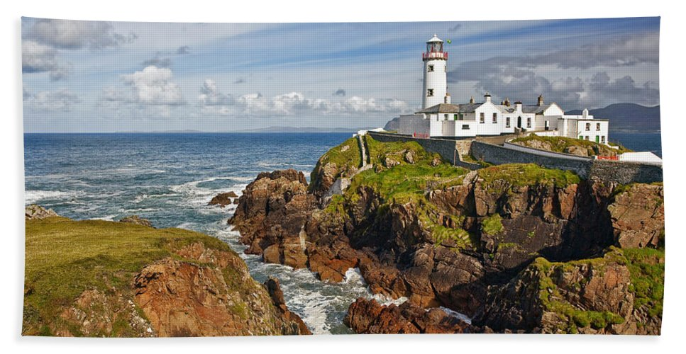 Architecture Beach Towel featuring the photograph Fanad Lighthouse Donegal Ireland by Marcia Colelli