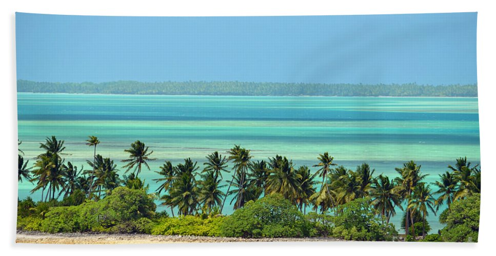 Fanning Island Beach Towel featuring the digital art Fanning Island by Eva Kaufman