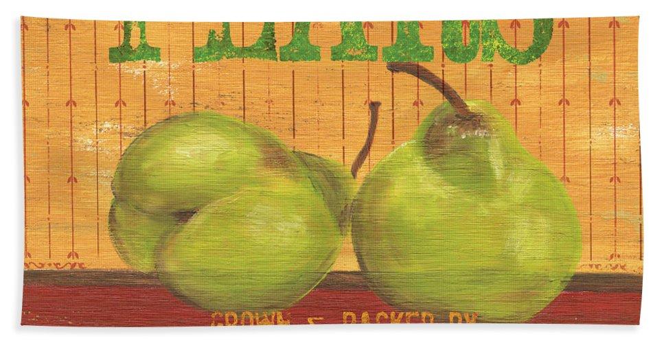 Food Beach Towel featuring the painting Farm Fresh Fruit 1 by Debbie DeWitt