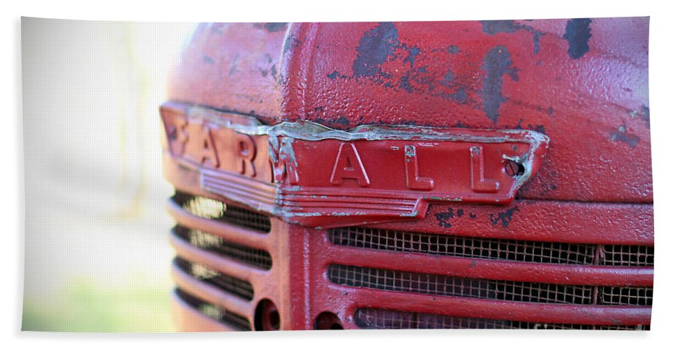Beach Towel featuring the photograph Farmall by Todd Blanchard