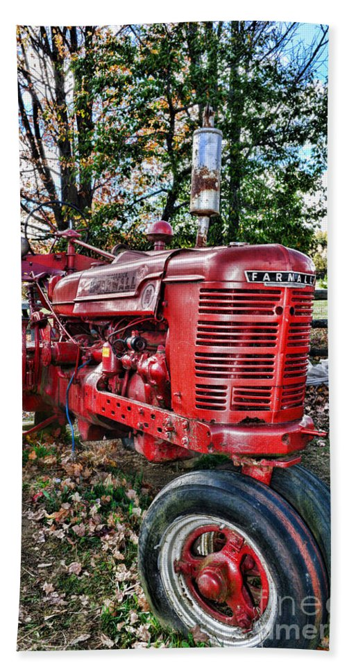 Paul Ward Beach Towel featuring the photograph Farmers Tractor by Paul Ward