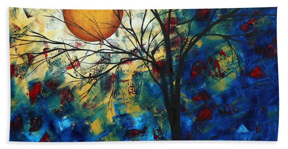 Decorative Beach Towel featuring the painting Feel The Sensation By Madart by Megan Duncanson
