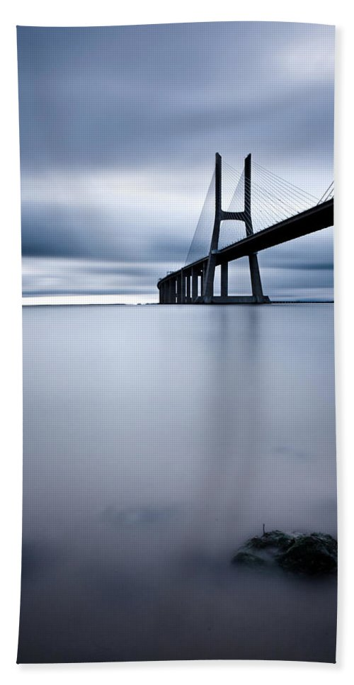 Lisbon Beach Towel featuring the photograph Feeling Blue by Jorge Maia