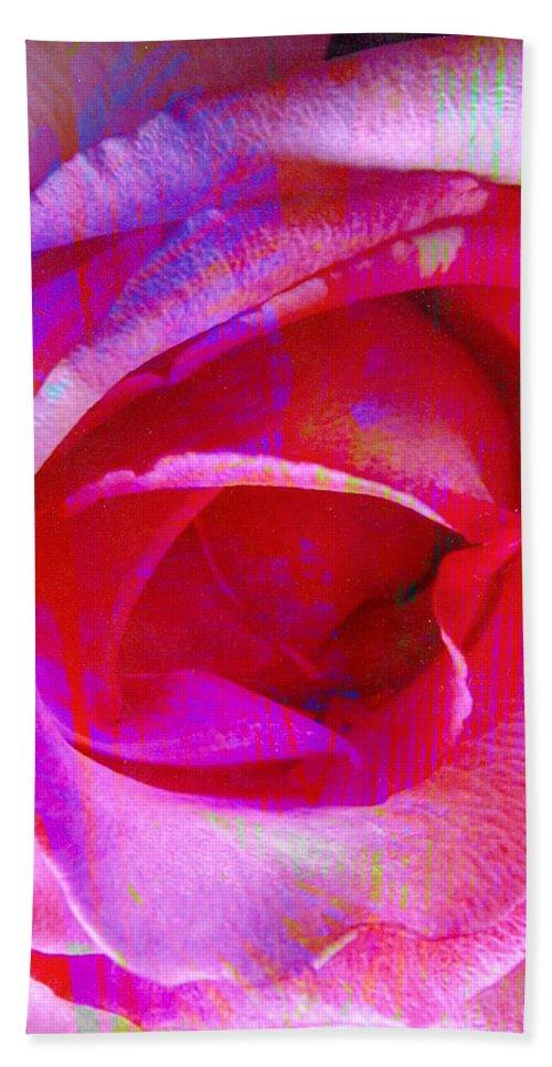 Rose Flower Beach Towel featuring the digital art Feelings by Yael VanGruber