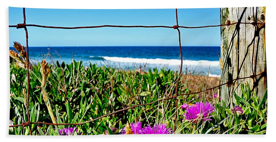 Photography Beach Towel featuring the photograph Fenced In by Kaye Menner