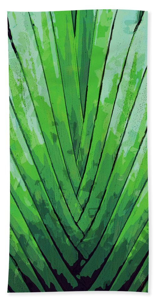 Dominican Republic Beach Towel featuring the digital art Fern - Color Marker by David Lange