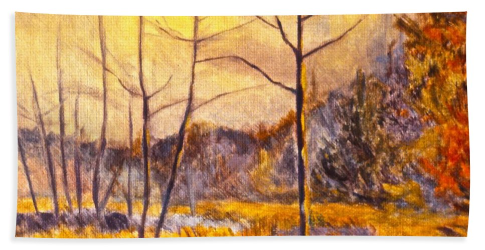Landscape Beach Towel featuring the painting Ferrum by Kendall Kessler