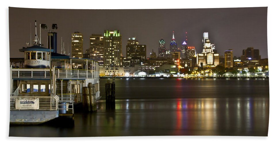 City Beach Towel featuring the photograph Ferry To The City Of Brotherly Love by Paul Watkins
