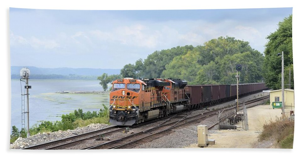 Train Beach Towel featuring the photograph Ferryville Train by Bonfire Photography