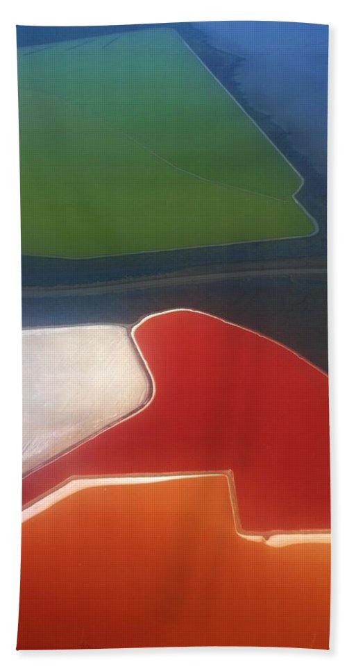 Abstraction Beach Towel featuring the photograph Fields by Alexander Fedin