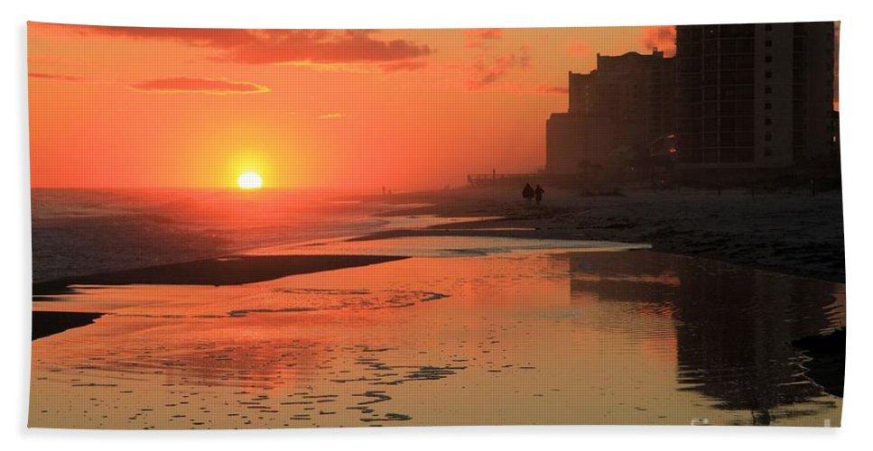 Gulf Islands National Seashore Beach Towel featuring the photograph Fiery Seashore by Adam Jewell