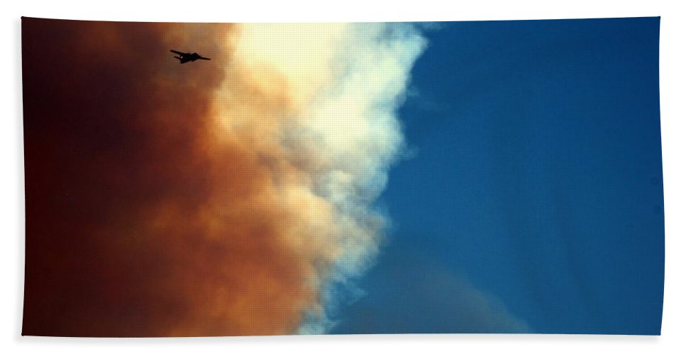 Fire Beach Towel featuring the photograph Fighting The Clover Fire by Joyce Dickens