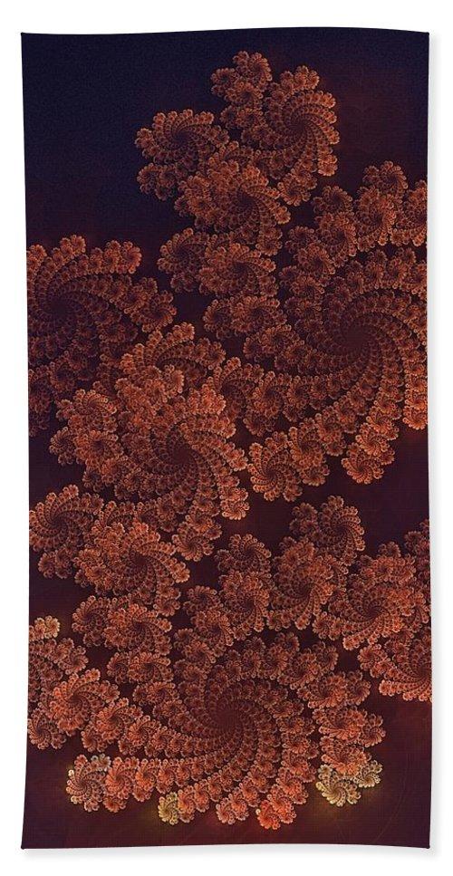 Dragon Beach Towel featuring the digital art Filigree Dragon by Doug Morgan