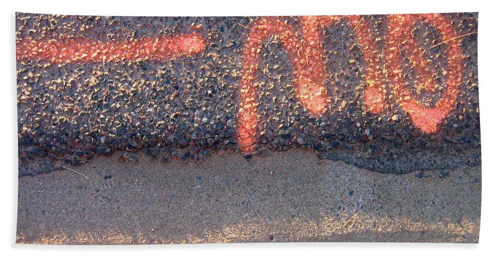 Film Noir Cinematographer Bruce Surtees Out Of Bounds 1986 Curb Casa Grande Arizona 2004 Beach Towel featuring the photograph Film Noir Cinematographer Bruce Surtees Out Of Bounds 1986 Curb Casa Grande Arizona 2004 by David Lee Guss