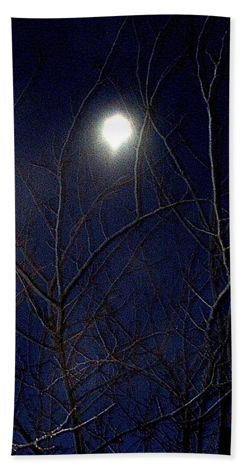 Film Noir Joseph H Lewis So Dark The Night 1946 Moon Trees Casa Grande Arizona 2000 Beach Towel featuring the photograph Film Noir Joseph H Lewis So Dark The Night 1946 Moon Trees Casa Grande Arizona 2000 by David Lee Guss