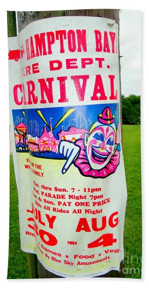 Clown Beach Towel featuring the photograph Fire Dept. Carnival by Ed Weidman
