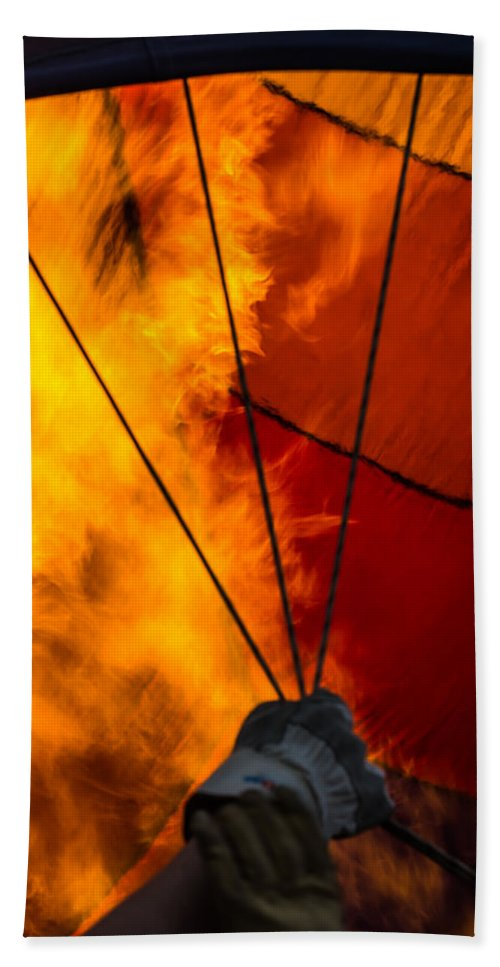 Erie Beach Towel featuring the photograph Fire From Within by Colleen Coccia