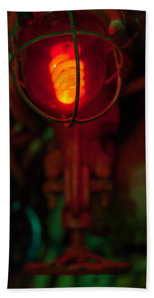 Valve Beach Towel featuring the photograph Fire Warning by Scott Campbell