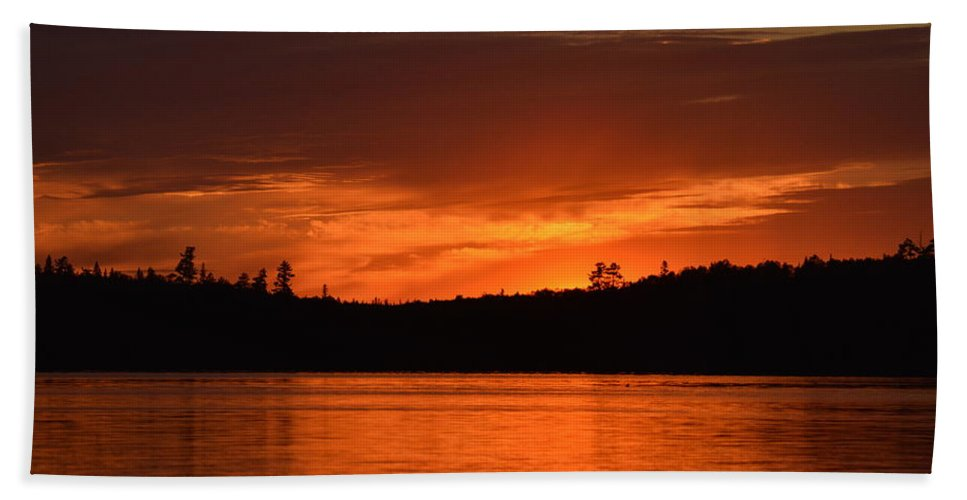 Sunset Beach Towel featuring the photograph Fireworks by Thomas Phillips