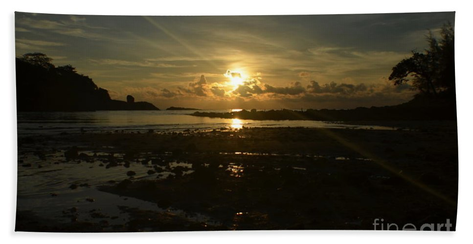 Michelle Meenawong Beach Towel featuring the photograph First Light by Michelle Meenawong
