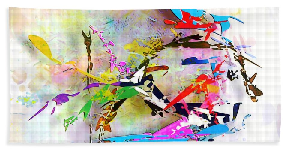 Painting Beach Towel featuring the digital art fish XXIV - marucii by Marek Lutek