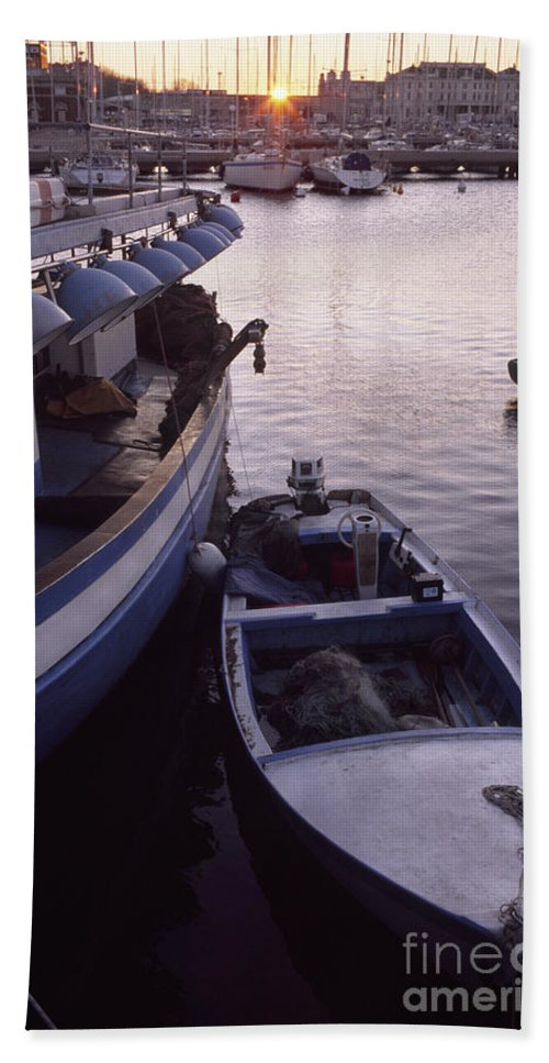 Trieste Beach Towel featuring the photograph Fishing Boats by Riccardo Mottola
