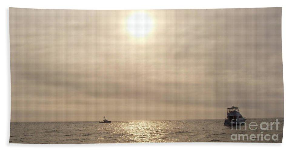 Fishing Montauk Beach Towel featuring the photograph Fishing Montauk by John Telfer
