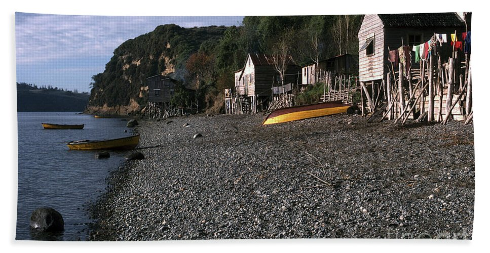 Fishing Village Beach Towel featuring the photograph Fishing Village by J L Woody Wooden